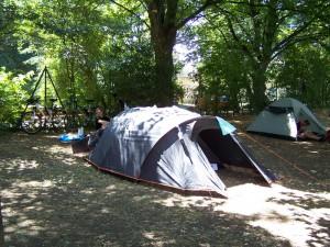 Notre tente coté 1