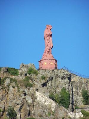 Statue Notre Dame de France au Puy en Velay