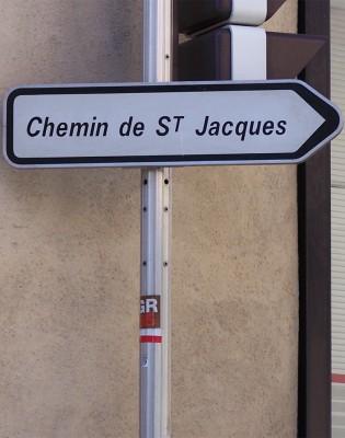 Panneau du chemin de Saint Jacques