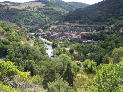 Très belle vue sur l'Allier et Monistrol